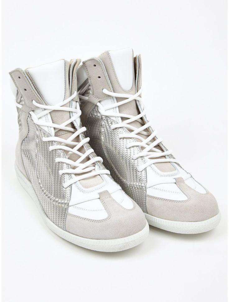 Sneakers for Men, Silver, Leather, 2017, 9 Maison Martin Margiela