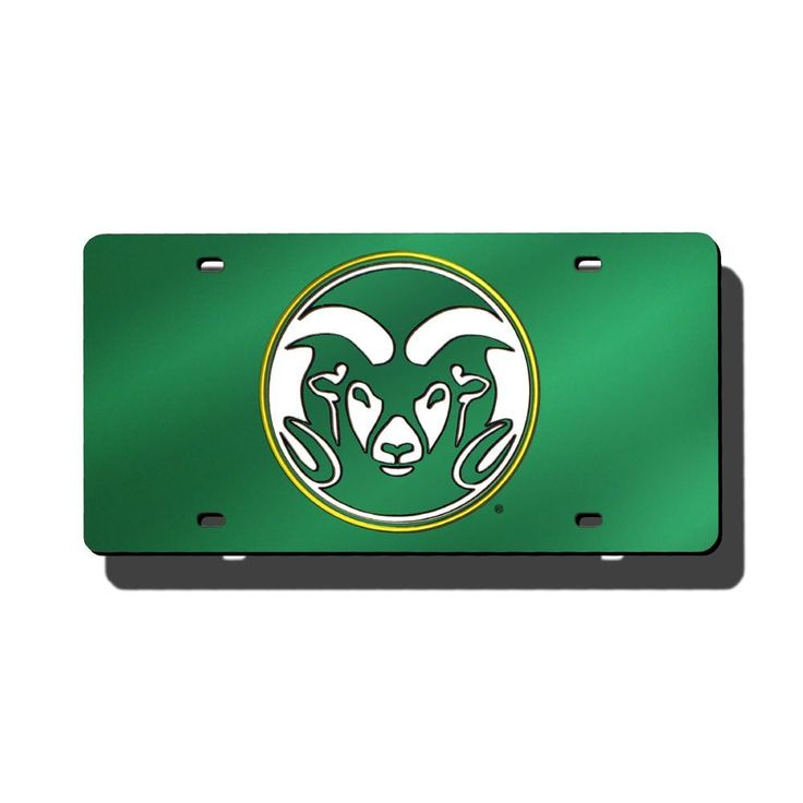 Colorado State Rams Ncaa Laser Cut License Plate Cover