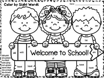 back to school kindergarten coloring pages - 233 best images about color by sight words on pinterest
