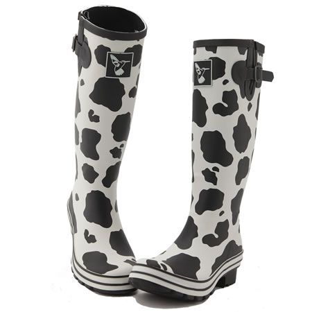 Cow Print Wellies!