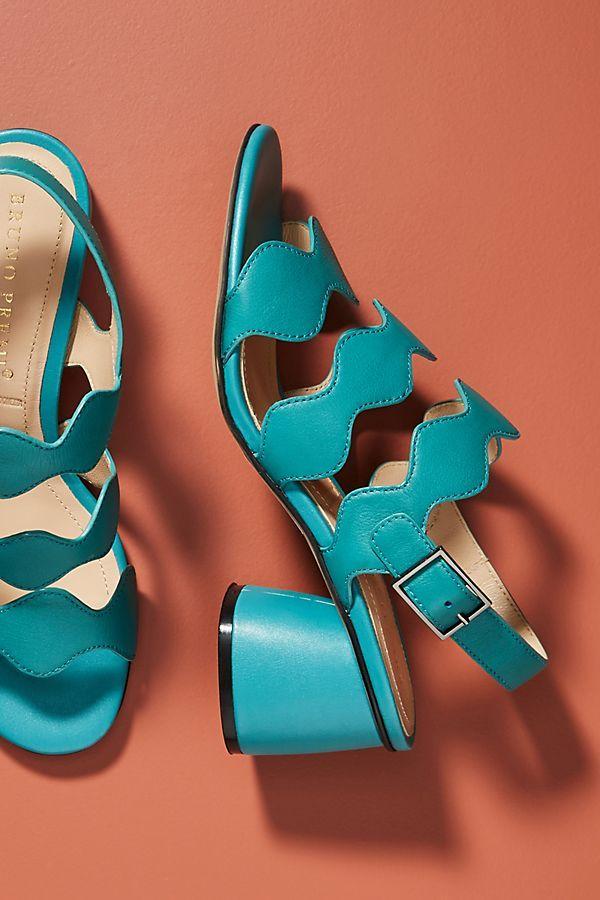 Premi SandalsShoes Slide Scalloped View1Bruno Heeled XOkn08wP