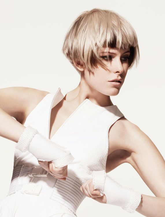 Athletica Collection Hair: Sassoon International Creative Team  Photography: Jonathan Akehurst  Make-up: Petros Petrohilos  Fashion styling: Cathy Edwards  Products and tools: Wella Professionals hair color