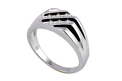 $99.99 - .925 Sterling Silver Mens .15ct Diamond Ring Size 10.5 - High Polish.  If you are looking for mens rings - at very affordable prices check out www.jewelryland.com. If you like this mens diamond ring please feel free to re-pin, like or leave a comment.