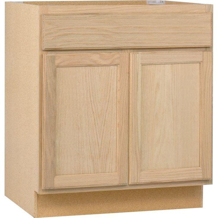 Base Kitchen Cabinet In Unfinished Oak