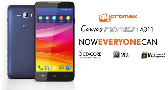 #MicromaxCanvasNitro A311 Mobile Rs.8999 From Flipkart.com