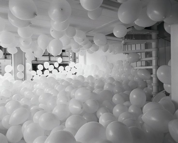 Half the air in a given space by Martin Creed, 1998