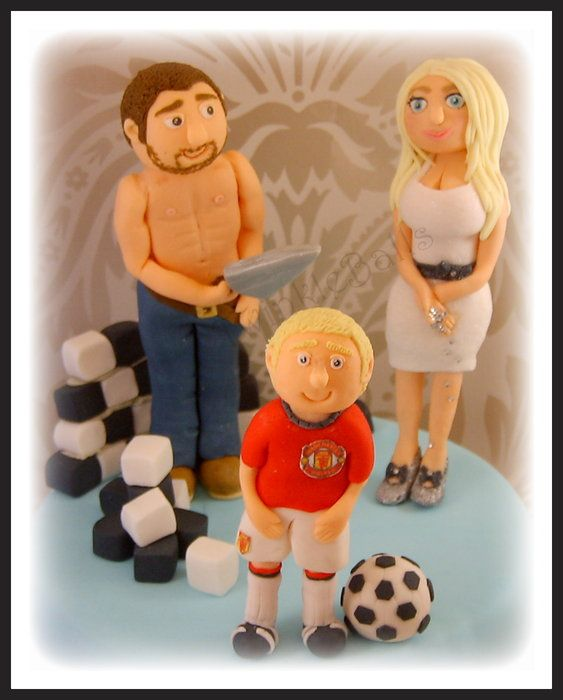 Barbie and Brick Layer ken wedding cake topper
