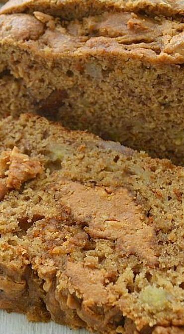 Peanut Butter-Swirl Banana Bread. 2 1/2 c regular flour instead of 2 c wheat flour.