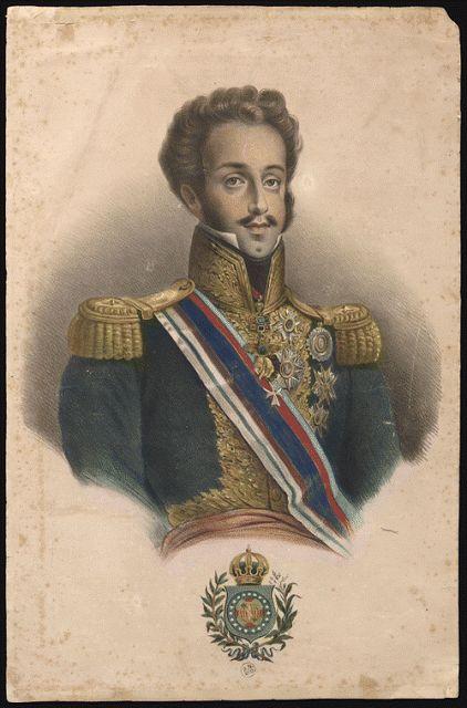 Dom Pedro I (12.10.1798 - 24.09.1834). Nasceu e faleceu no mesmo quarto, no Palácio de Queluz, em Portugal.