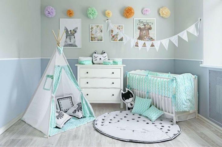 Babyzimmer in Mint und Grau Inspirierende Ideen für ein