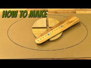 (how to make) a router jig for making ellipes - YouTube