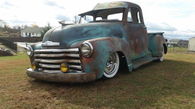 studebaker trucks patina | ... Chevy 3100 5 window Pickup Rat Rod, Bagged, Patina, Air Ride. image 5