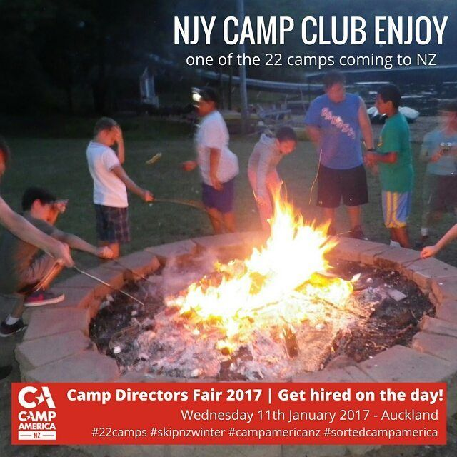 CAMP AMERICA NZ DIRECTORS FAIR 2017 22 Camps are Coming to NZ to hire kiwis for Camp America. Get deets & book-> iwh.nz/CDFair #skipnzwinter #campamericanz
