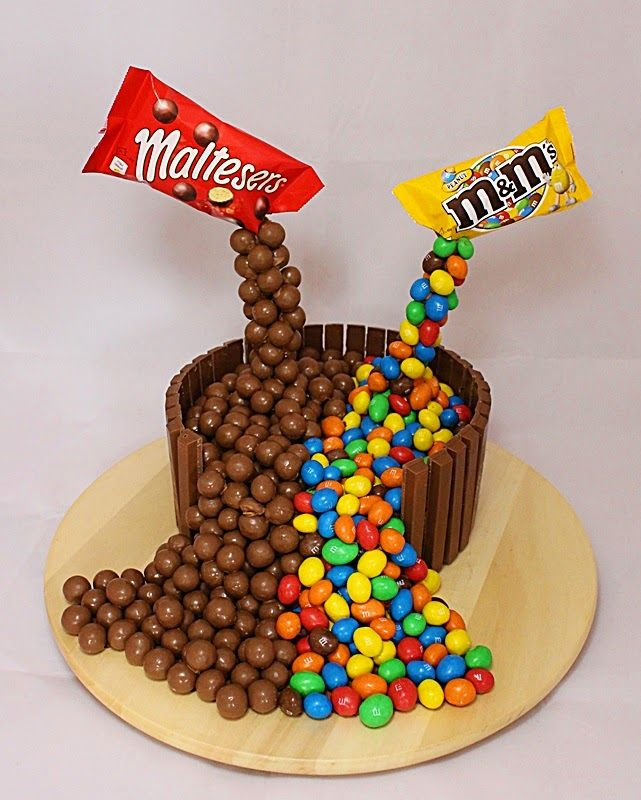 How To Make M M Floating Birthday Cakes