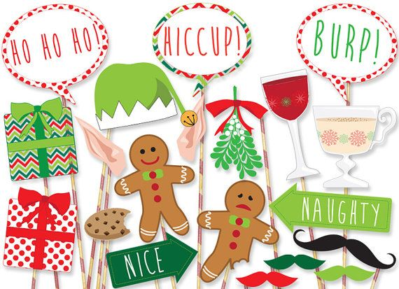 MEGA PACK Christmas Photo Booth Props von PanicPrintables auf Etsy