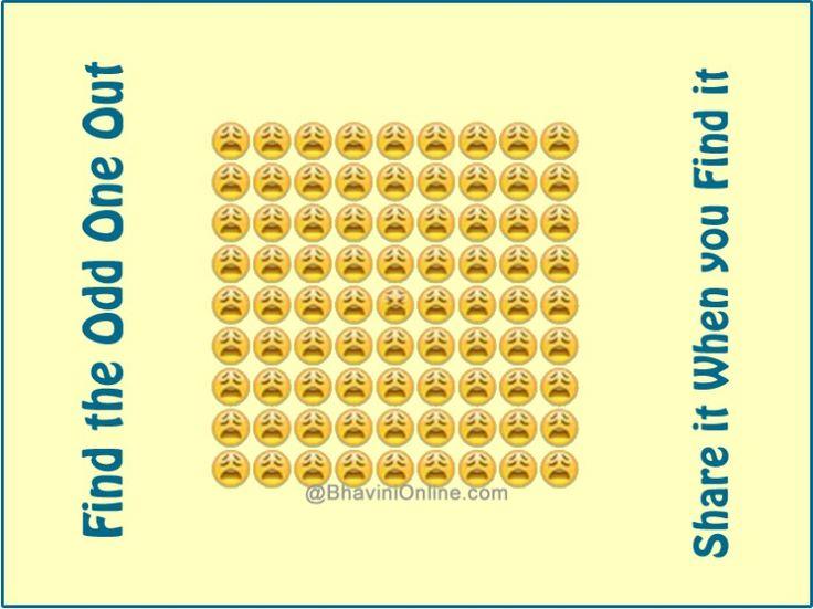 find the odd emoji picture riddle