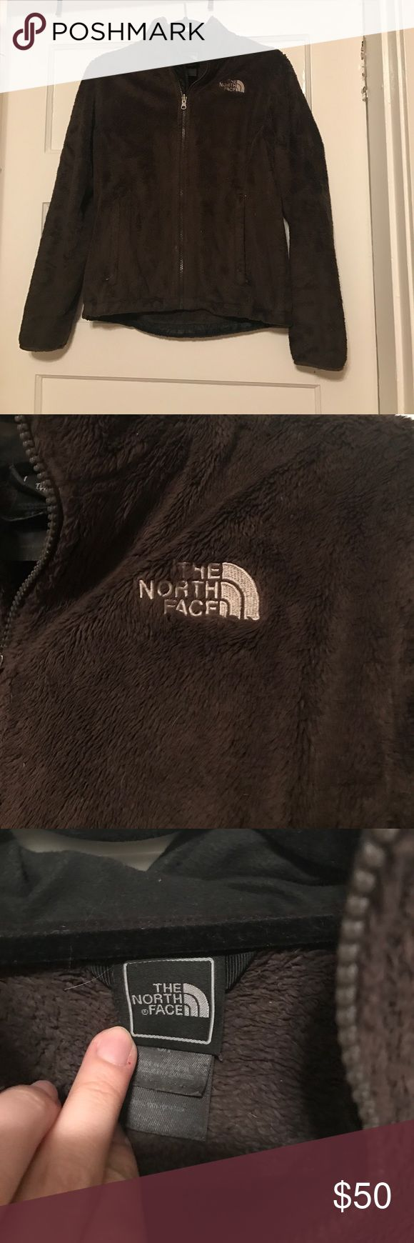 🔴CLEARANCE Fuzzy North Face jacket Brown fuzzy North Face jacket. Perfect to use as a liner in another Jacket or wear on its own! Excellent condition. The North Face Jackets & Coats