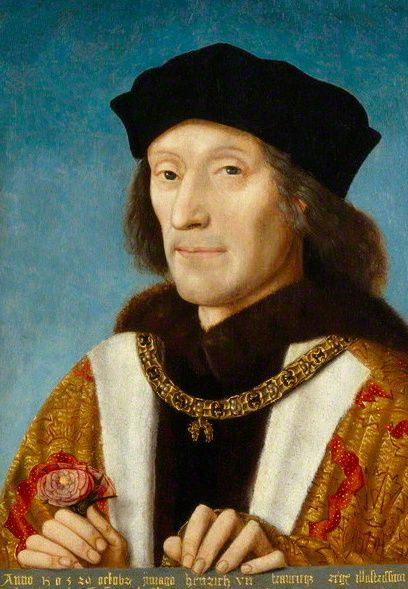 "King Henry VII acceded to the throne as Henry VII, founder of the Tudor dynasty which reigned until 1603.Capitalising on the unpopularity of King Richard III, defeated Richard III at the Battle of Bosworth Field in 1485, proclaiming himself King Henry VII.moving to end the Wars of the Roses by presenting England with a new dynasty, of both Lancastrian and Yorkist descent. The new dynasty was symbolised by the ""Tudor Rose"""