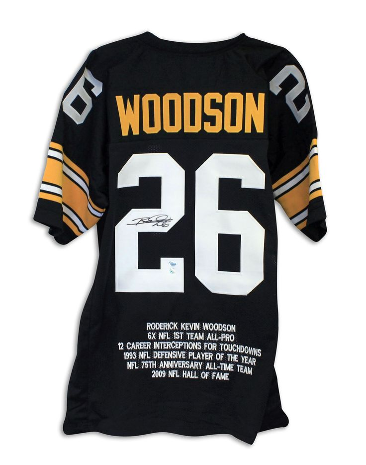 Rod Woodson Pittsburgh Steelers Autographed Black Throwback Jersey with Embroidered Stats
