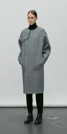 Military Trench Coat w/o collar Hyke http://www.hyke.jp/