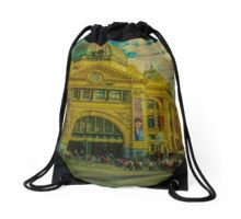 The Cyclist, Toorak Tram and Something Different Drawstring Bag