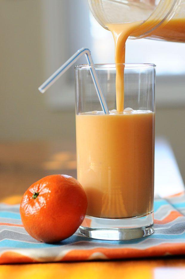 Krémes smoothie kesudióval és mandarinnal