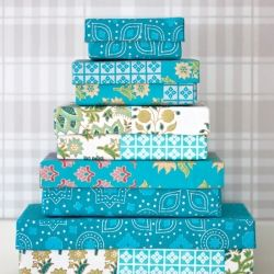 How to get pretty corners when you cover boxes with paper or wallpaper samples. Tutorial in English and Swedish.