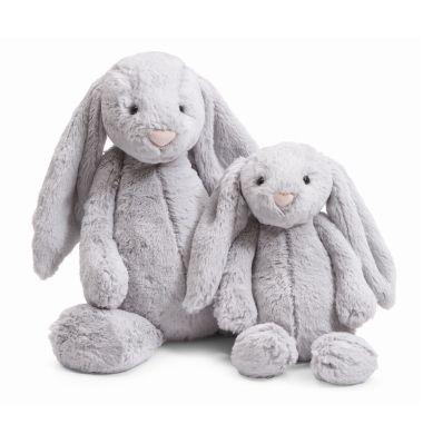 Grey Jellycat Bunny is cute, soft & cuddly!!  Looks amazing in a grey nursery!!