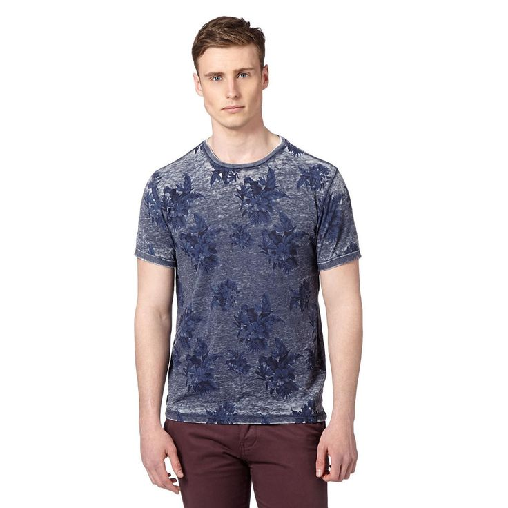 Red Herring All Over Floral Tee T-Shirt Small Size Navy Short Sleeve Debenhams #RedHerring #GraphicTee