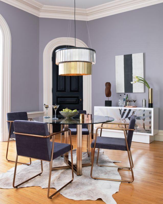 Silverado Brass 47 Round Dining Table In 2020 Round Dining