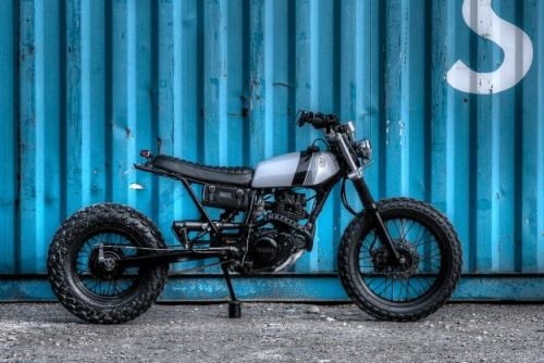 YAMAHA TW125 Street Tracker by DINAMAX #motorcycles #streettracker #motos | caferacerpasion.com