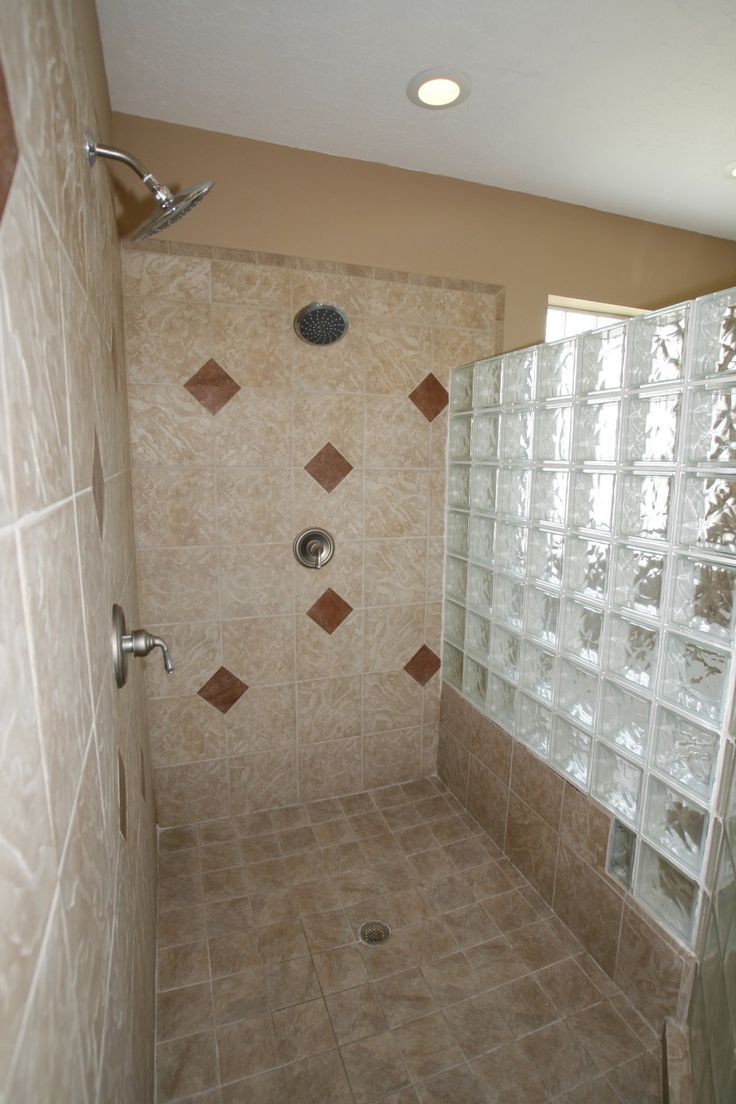 155 best images about bathroom ideas on pinterest light for Walk in shower walls