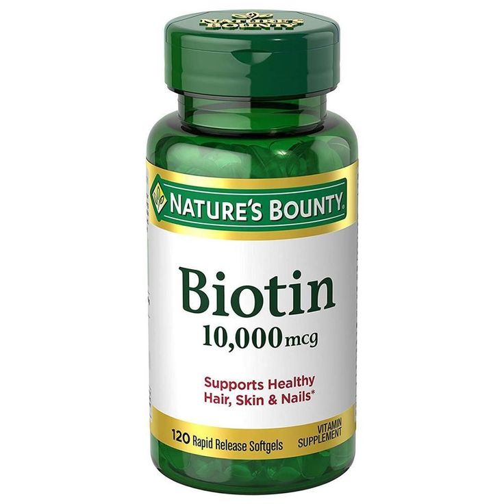 Nature's Bounty Biotin 10,000Mcg 120Ct Supports Skin Health Energy