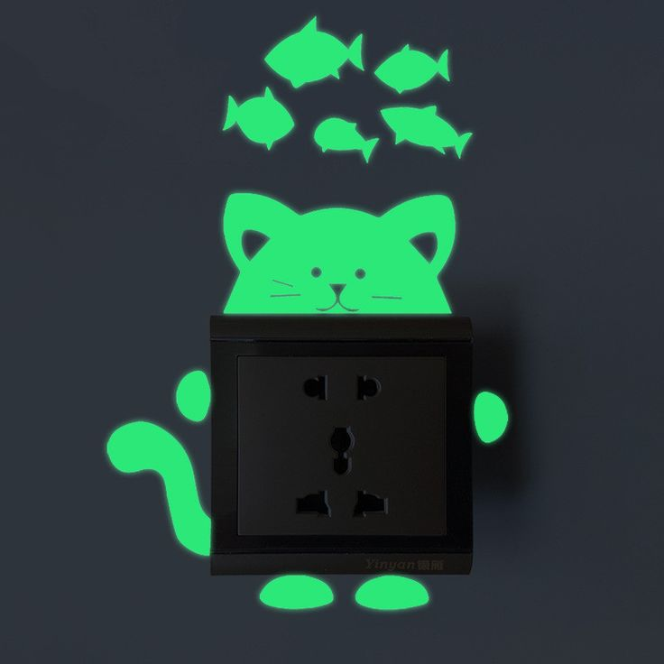 6pcs Cute Creative Kitten Cat Luminous Glow Switch Wall Sticker Home Noctilucent Fish And Cats Green Wall Stickers 6ZDZ194. Yesterday's price: US $10.70 (8.83 EUR). Today's price: US $6.53 (5.36 EUR). Discount: 39%.