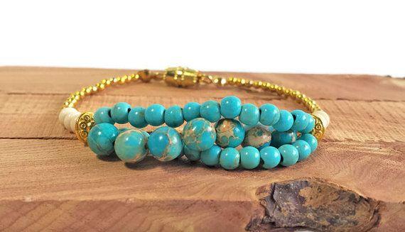 Bohemian inspired beaded bracelet