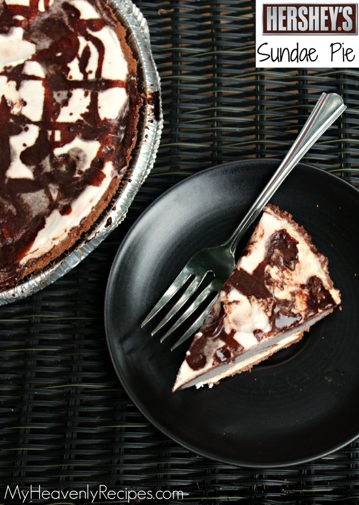Never buy those Hershey Sundae Pies in restaurants or the grocery store ever again. Create your very own Hershey Sundae Pie at home with a few ingredients.
