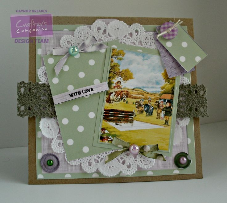 Gaynor Greaves - Crafter's Companion - Thelwell CD - Card Companion: design 1- Kraft card - Collall glues - #crafterscompanion #Thelwell