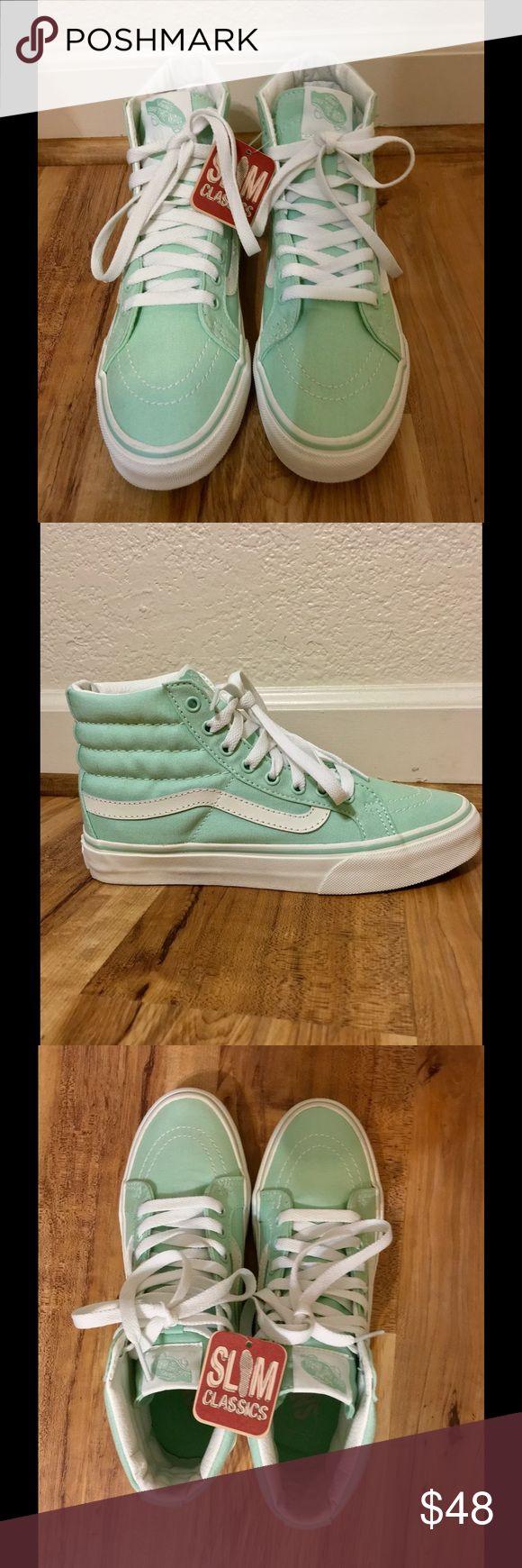 Vans Shoes Vans Light Mint High Top Skateboard Sneakers! Women's Size 7 NWT Slim Classics! Vans Shoes