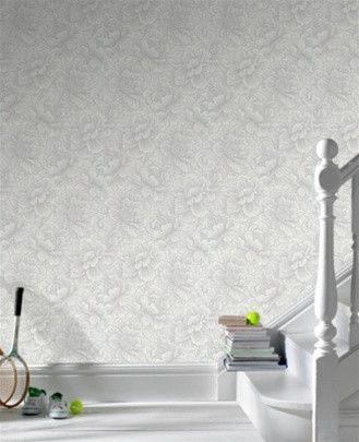 Flourish White Wallpaper design by Graham and Brown