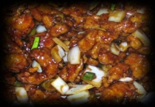 Black pepper chicken is a traditional dish from the Hunan Province in South Central China. It is prepared with diced chicken, c...