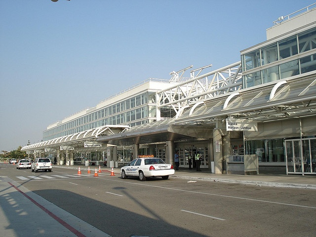 LA/Ontario International Airport, Ontario, CA. I flew in to here on my way to Anaheim. It's often used as a location for television and movie production, and I've recognized it in several TV commercials.  Ontario is also a major hub for the UPS parcel delivery service.
