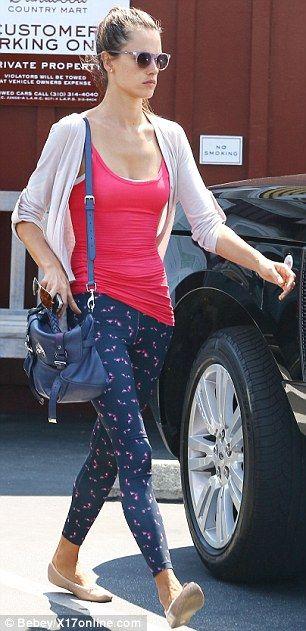 Alessandra Ambrosio.. yoga attire - love.. serene and sleek...