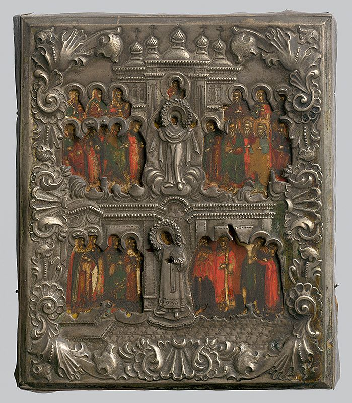 Protection of the Virgin Mary [...], Russian Iconography, 1790/1810. Slovak National Gallery, CC BY