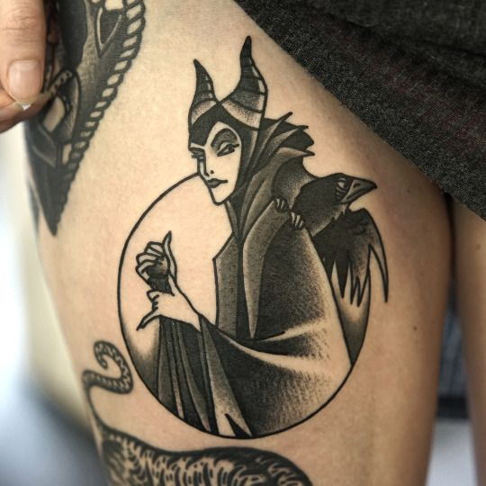 Maleficent tattoo by Philip Yarnell
