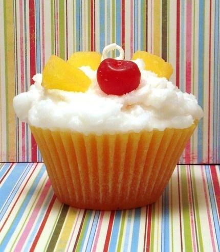 Yummy Upside Down Pineapple Cupcake