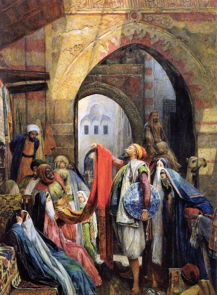 John Frederick Lewis (British, 1804-1876). A Cairo Bazaar, 1875