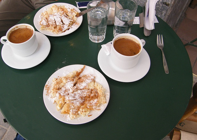 Bougatsa and Greek coffee~my 2 favorite things in life...served at @ the Lions Fountains in my birth city. Heraklion, Crete.