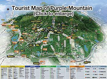 Tourist Map of Nanjing Purple Mountain
