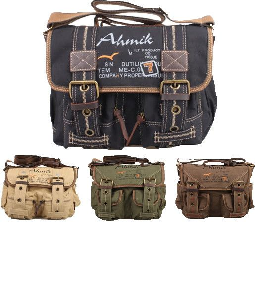 Retro Style Canvas Messenger Bag #messengerbag #canvasbag #retrobag