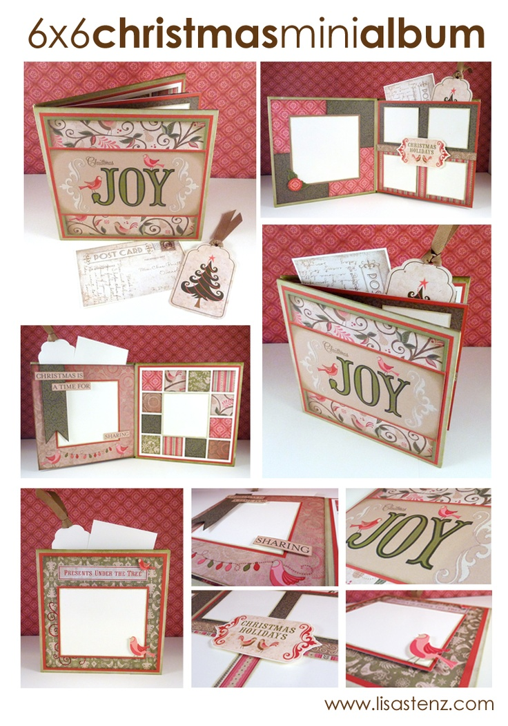 #papercraft #scrapbook #minialbum.   Lisa's Creative Corner: 6x6 Christmas Mini Album This is so nice, I need to make one and send to my daughter.  Then she can fill with pictures and send it back!